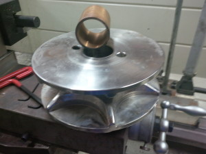 Machined and pressed  bronze bushing for Muir Windlass