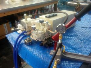 Pressure testing NAIAD Stabilizer heat exchanger
